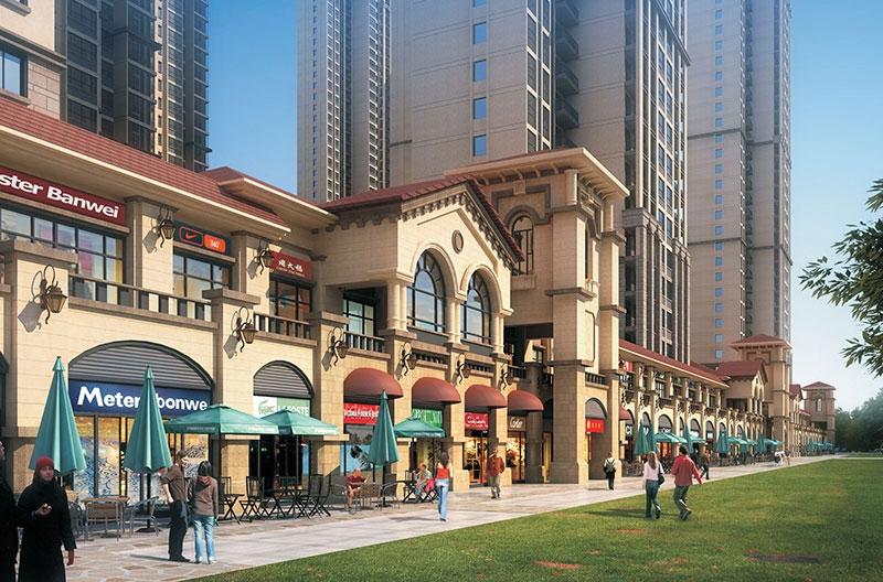 峰火村锦绣江城商业街项目
