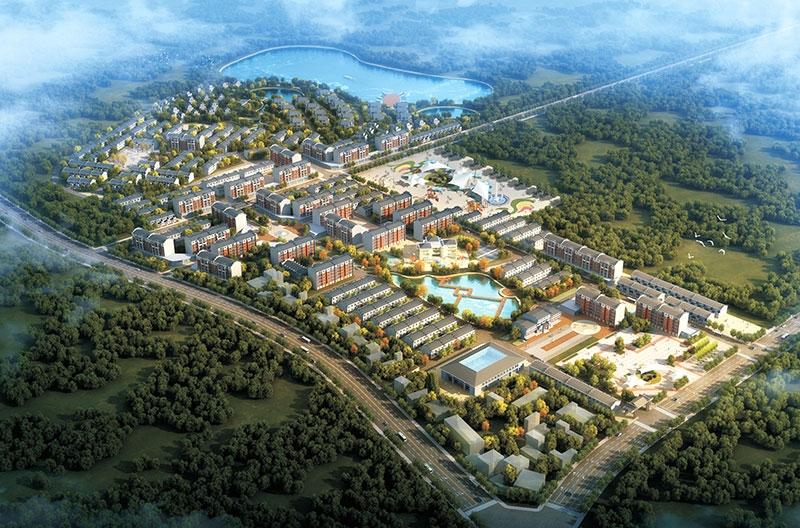武汉市新洲区靠山小镇项目